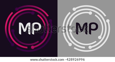 Mp letters business logo icon design stock vector 428926996 mp letters business logo icon design template elements in abstract background logo design identity in spiritdancerdesigns Images