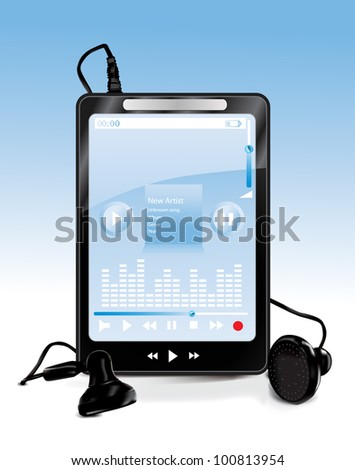 Mp3 Player - stock vector
