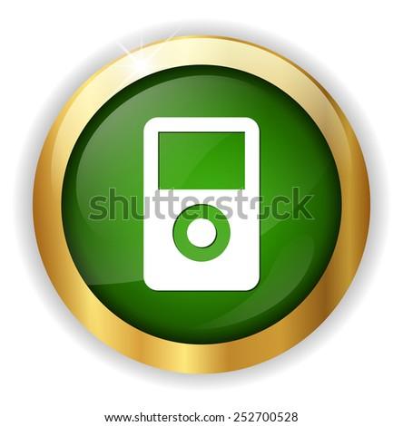 mp3 player icon - stock vector