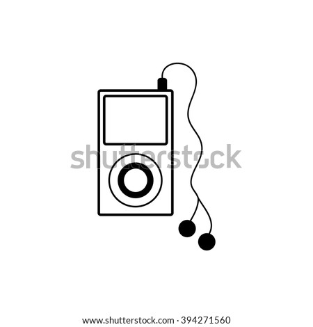 Mp3 player icon isolated on white background. Vector art.