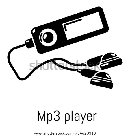Mp3 Player Icon Simple Illustration Of Vector For Web
