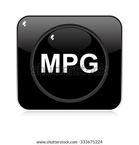 mpg button  - stock vector