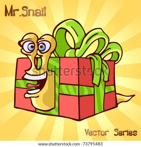 Mr. Snail with surprise