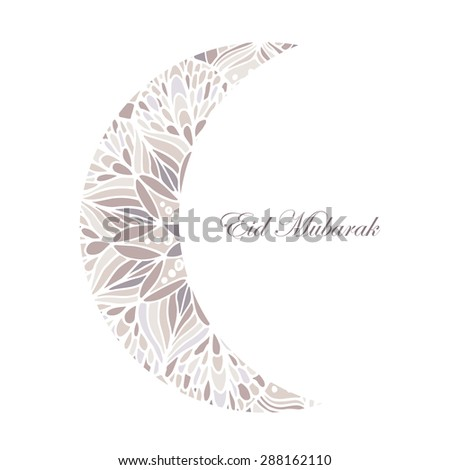 Mubarak background with arabic mandala. Can be use as sticker, tag,  design greetings card or label design