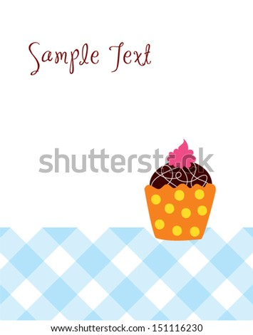 muffin greeting card