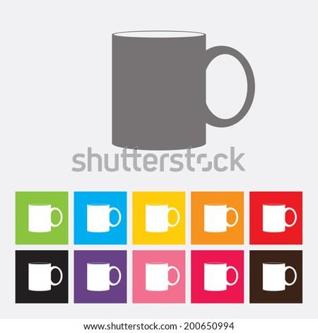 Mug icon - Vector - stock vector