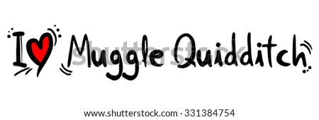Muggle Quidditch love - stock vector