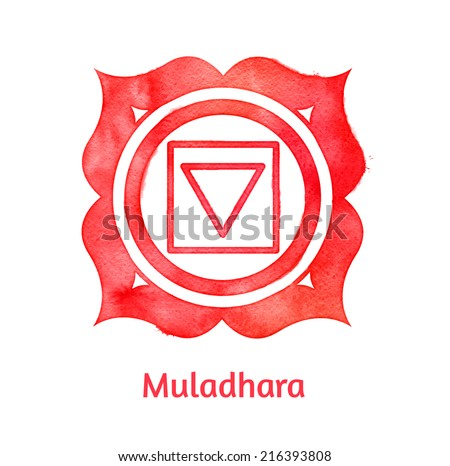 Muladhara chakra. Vector Illustration. Isolated. - stock vector