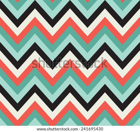 multi colored seamless chevron pattern. each color in separate layer. - stock vector