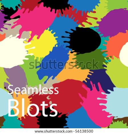 Multi-coloured blots. A bright seamless structure. - stock vector