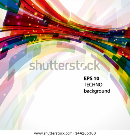 Multicolor abstract bright background. Elements for design. Eps10. - stock vector