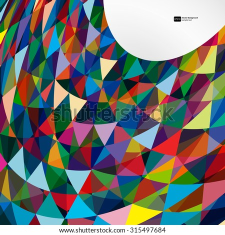 Multicolor abstract bright background with triangles. Elements for design. Eps10. - stock vector