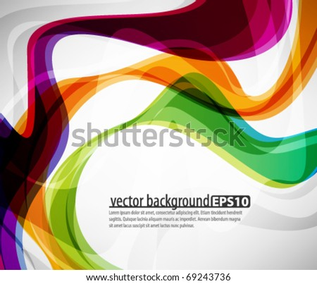 Multicolor abstract design - stock vector
