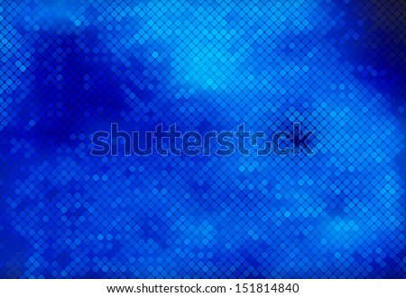 Multicolor blue in the fog abstract lights background square pixel mosaic vector eps 10 - stock vector