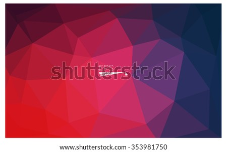Multicolor blue, red geometric rumpled triangular low poly style gradient illustration graphic background. Vector polygonal design for your business.