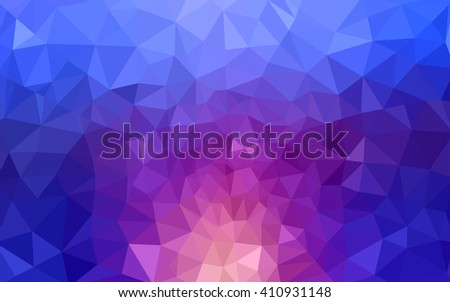 Multicolor blue, red polygonal illustration, which consist of triangles. Geometric background in Origami style with gradient. Triangular design for your business. - stock vector