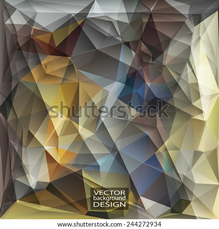 Multicolor ( Blue, Yellow, Gray ) Design Templates. Geometric Triangular Abstract Modern Vector Background.  - stock vector