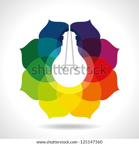 multicolor business idea - stock vector