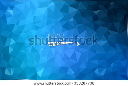 multicolor dark blue geometric rumpled triangular low poly style gradient illustration graphic background. Vector polygonal design for your business. - stock vector