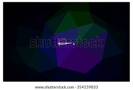 Multicolor dark pink, green geometric rumpled triangular low poly origami style gradient illustration graphic background. Vector polygonal design for your business.