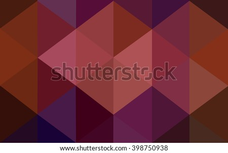 Multicolor dark pink, red, orange polygonal illustration, which consist of triangles. Geometric background in Origami style with gradient. Triangular design for your business.