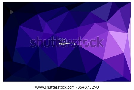 Multicolor dark purple, pink geometric rumpled triangular low poly origami style gradient illustration graphic background. Vector polygonal design for your business.
