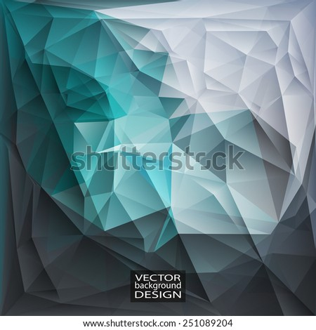 Multicolor Design Templates. Geometric Triangular Abstract Modern Vector Background - stock vector
