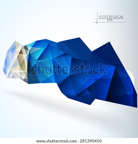 Multicolor Design Templates. Geometric Triangular Spot Abstract Modern Background. Crystal Jewelry Gem. Vector Illustration - stock vector