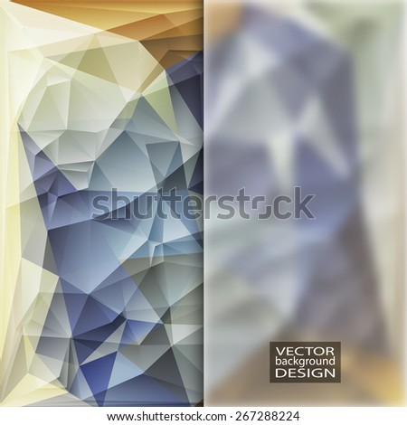 Multicolor Design Templates with Frosted Glass Insert. Geometric Triangular Abstract Modern Vector Background. - stock vector
