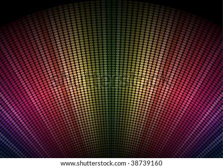 Multicolor Dots Burst Background - stock vector