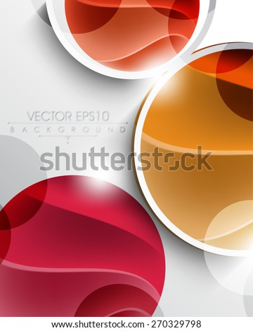 multicolor geometric circle with elegant wave inside eps10 vector background - stock vector