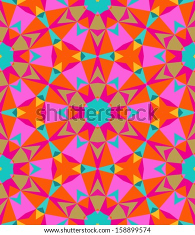 Multicolor geometric pattern in bright color. Vector seamless texture for web, print, wallpaper, home decor, textile, Christmas gift wrapping paper, spring summer fashion fabric, invitation background - stock vector