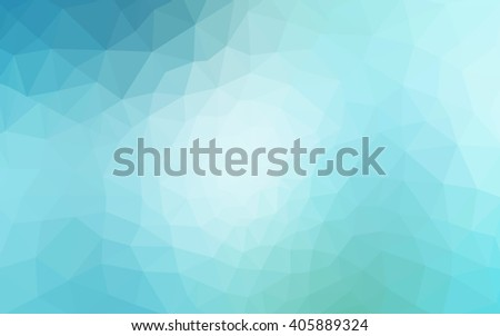 Multicolor green, blue polygonal illustration, which consist of triangles. Geometric background in Origami style with gradient. Triangular design for your business. - stock vector