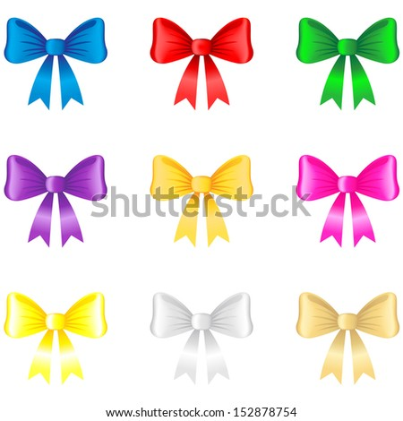 Multicolor image of 3d bow collection