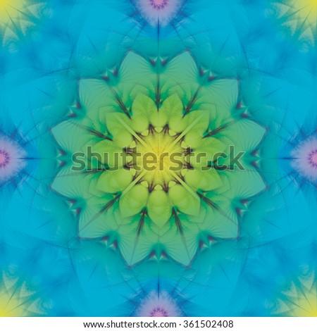 Multicolor kaleidoscopic seamless pattern - stock vector