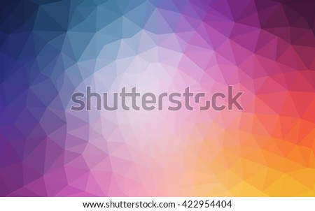 Multicolor pink, blue polygonal illustration, which consist of triangles. Geometric background in Origami style with gradient. Triangular design for your business. - stock vector