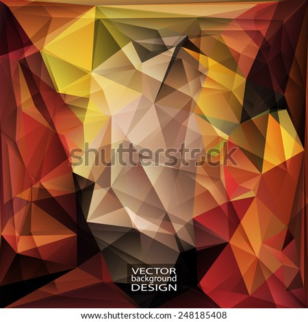 Multicolor ( Red, Yellow, Orange ) Design Templates. Geometric Triangular Abstract Modern Vector Background.  - stock vector