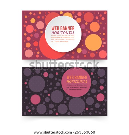 Multicolor Rounds Web Element Vector Web Banner Template - stock vector