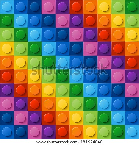 Multicolor seamless vector pattern of plastic parts. Every kit detail is grouped. Enjoy! - stock vector