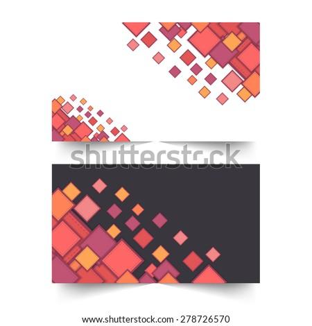 Multicolor Square Elements Horizontal Web Banner Set - stock vector