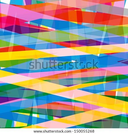 Multicolor Transparent Stripe Background - Vector files - stock vector