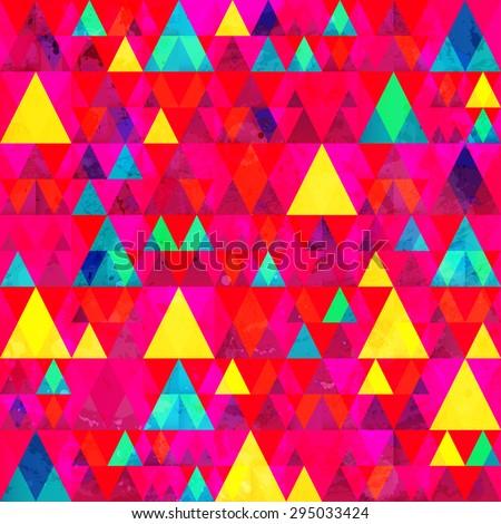 multicolor triangle seamless pattern  - stock vector