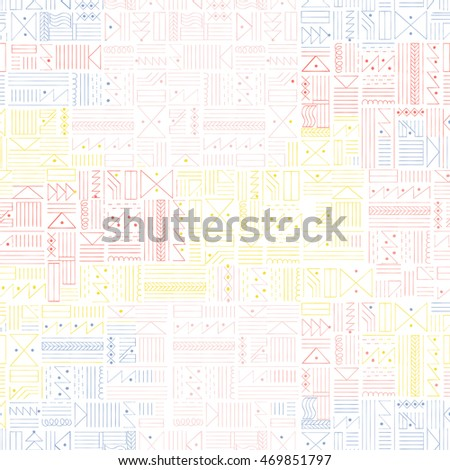 Multicolor Tribal ethnic backdrop. Vector illustrations.