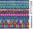 multicolor tribal Navajo vector seamless pattern. aztec fancy abstract geometric art print. ethnic hipster backdrop. Wallpaper, cloth design, fabric, paper, cover, textile. hand drawn - stock vector