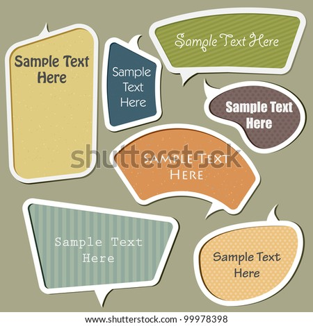 multicolor vector speech bubbles set - stock vector