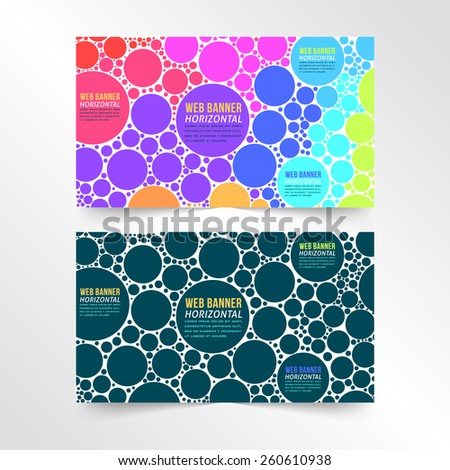 Multicolor Vector Web Banner Template - stock vector
