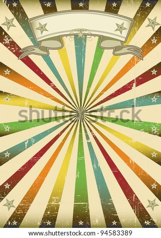 Multicolor vintage background. A vintage multicolor background for a poster. - stock vector