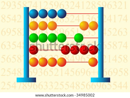 Multicolored abacus - stock vector