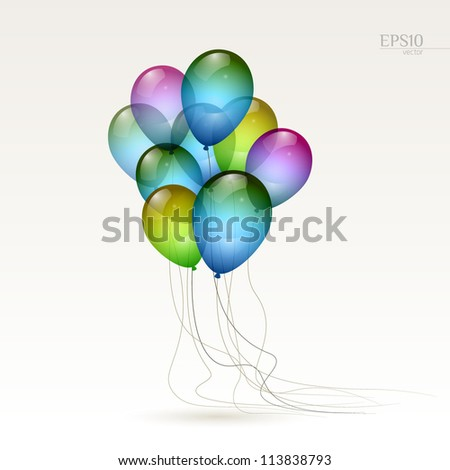 Multicolored balloons, eps10 vector