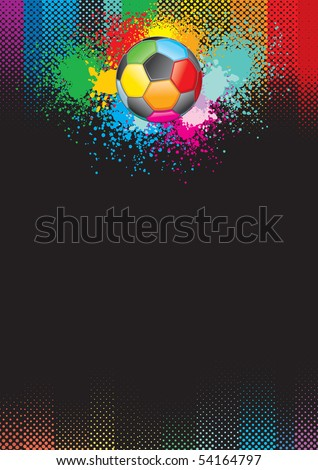 Multicolored blank Soccer Background for your text or design - stock vector